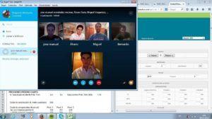 El equipo MABJETSIA reunido vía Skype durante la 1ª Ronda Clasificatoria